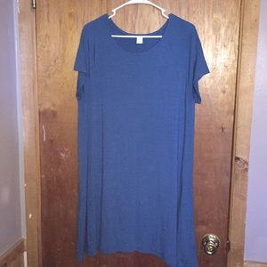 Teal Blue Tshirt Dress